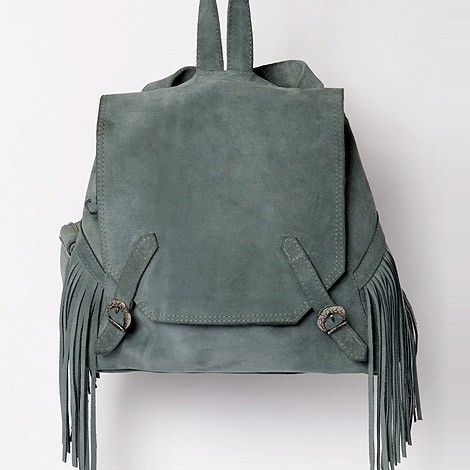 Apache Suede Backpack in Blue