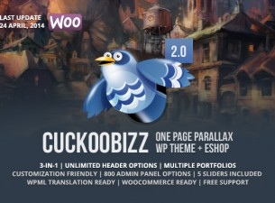 CuckooBizz - One Page Parallax Plus WordPress Theme