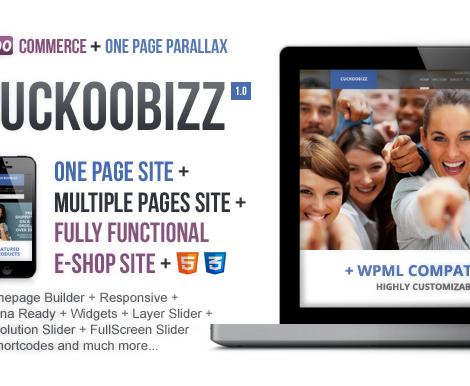 CuckooBizz - One Page Parallax Plus
