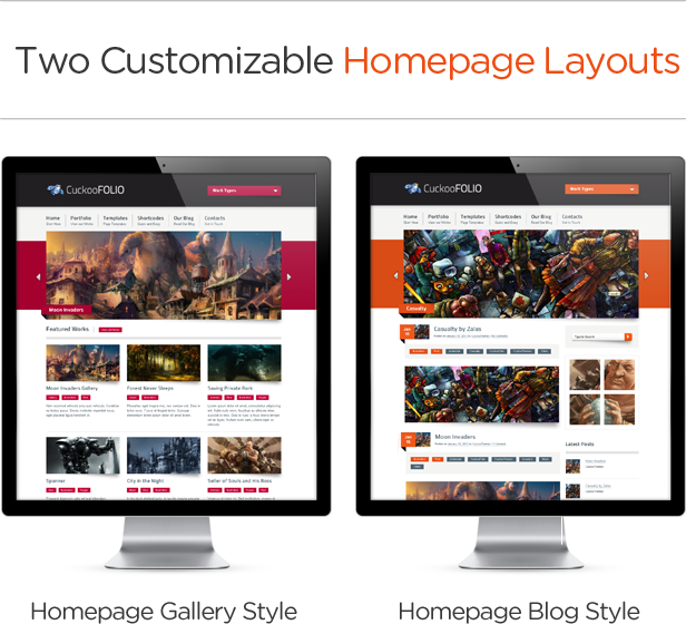 Two Customizable Homepage Layouts