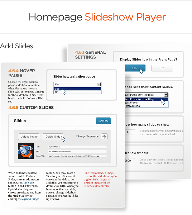 Homepage Slideshow Player