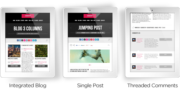 CuckooTap - One Page Parallax WP Theme Plus eShop